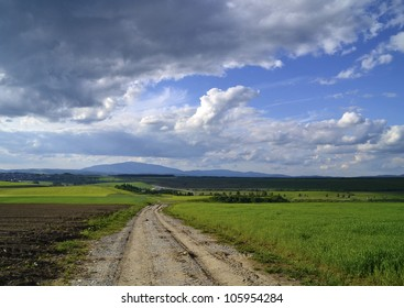 country road in the distance
