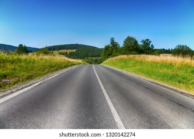 country road goes into the distance