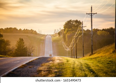 Country Road in the Midwest Nebraska
