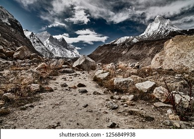 Country road in the mountains. Himalayas. India.