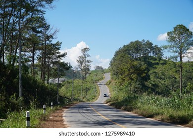 Country road on the mountain.