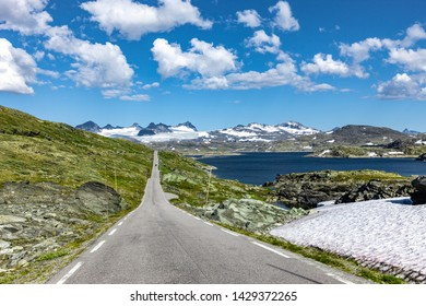 Country Road on Sognefjellet in Jotunheimen / Norway