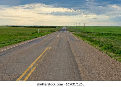 Country road in Saskatchewan Canada