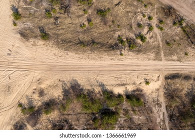 country road, view from above