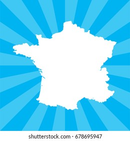 A Country Shape Illustration of France