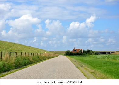 country side scenery in Friesland in Holland