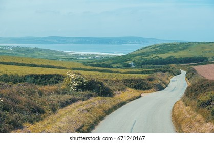 country side and summer landscape in Cornwall, UK