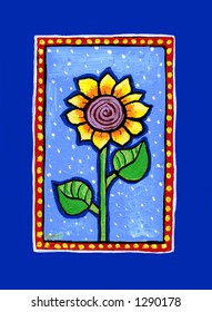 Country Sunflower Illustration/Painting