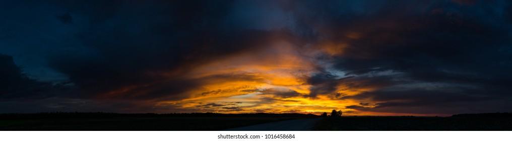 Country Sunset Panorama