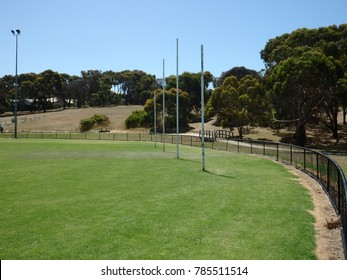 Country town footy oval on a sunny day