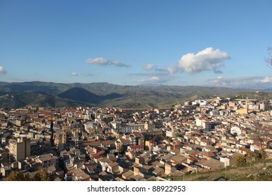 country view Enna Sicily, Italy