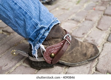 country-boots with spurs for horses