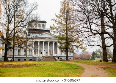 Country-house museum Rozhdestveno - house of Nabokov, famous russian writer - in Leningrad Oblast/Gatchina District, Russia. Image with selective focus