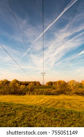 countryside, autumn, electricity