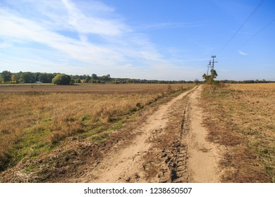 Countryside dirtroad in Poland