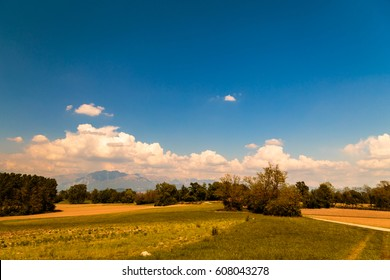 Countryside of Italy in a sunny day of may