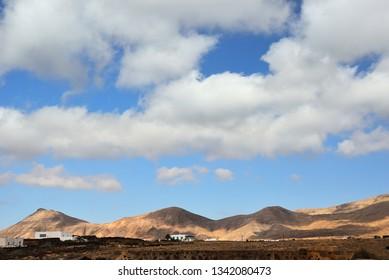 Countryside landscape in Lanzarote Island. Spain