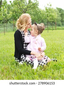 Countryside  mother and daughter love