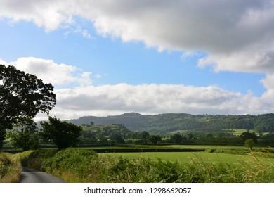 The Countryside Near Dryslwyn Castle, Carmarthenshire, Wales.