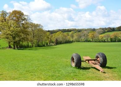 The Countryside Near Llangathen, Carmarthenshire, Wales.