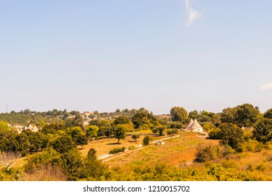 Countryside near the medieval white village of Locorotondo