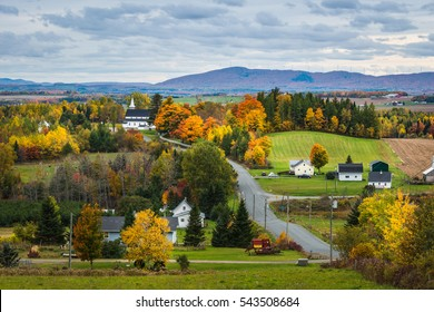 The countryside of New Brunswick, Canada, in autumn.