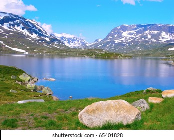 The Countryside of Norway on a Summer Day