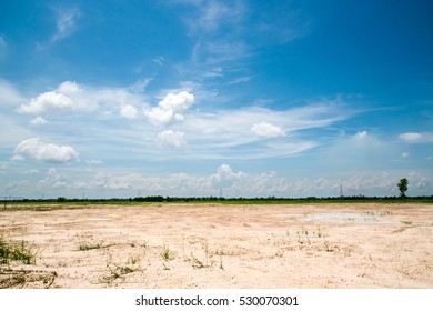 Countryside outdoor landscape beautiful ground and sky background