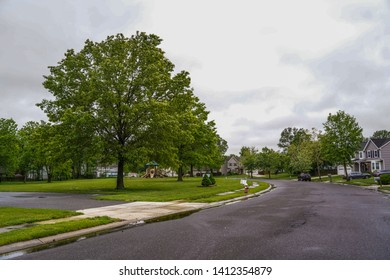 Countryside parks trees spring new jersey suburbia one-story america suburb