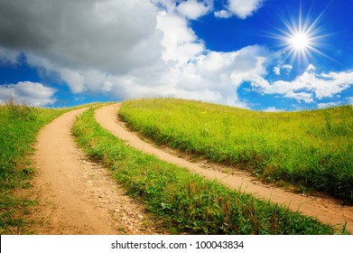 countryside road in summer time