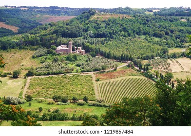 Countryside in the surroundings of Volterra, Italy