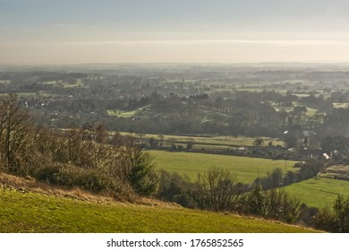 Countryside viewed from Box Hill near Dorking, Surrey, England