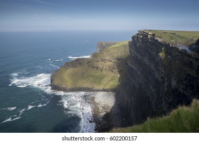 COUNTY CLARE, IRELAND - MARCH 11, 2017: Cliffs of Moher on a sunny day.