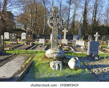 County Louth, Ireland, 6th December 2020. Termonfeckin High Cross in St Fechins Church, measuring 2.2 metres, carved out of sandstone in 9th Century.