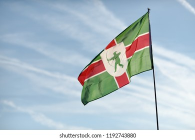 The County of Nottinghamshire in England Flag.