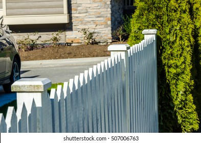 County style wooden fence. Separate and protect private property.