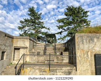 COUPEVILLE, WHIDBEY ISLAND, WASHINGTON, USA - JUNE 24, 2018: Fort Casey Historical State Park