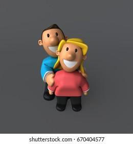 Couple - 3D Illustration