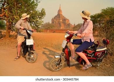 couple in Bagan Myanmar