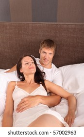 couple in bed - love