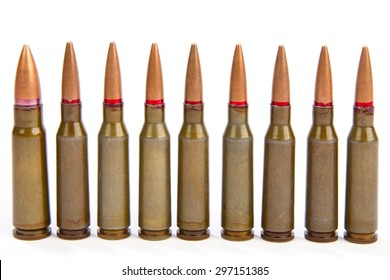 a couple of bullets on a white background ammunition of rifled carabine