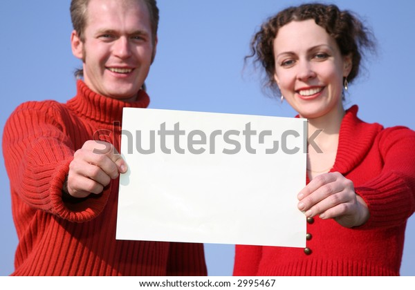 couple with card