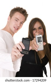 couple with cell phones