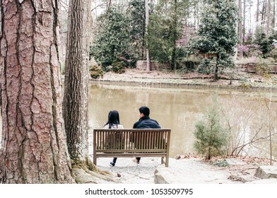 Couple Conversing in Nature
