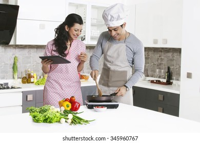 Indian Happy Woman In Kitchen Stock Photos Images Photography