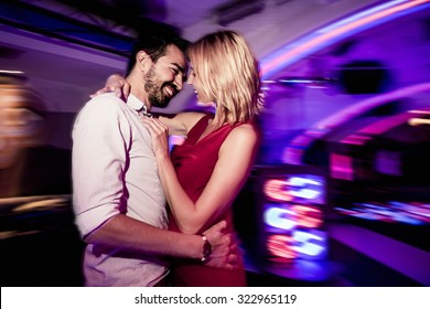 Couple dancing in a club