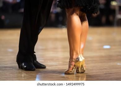 couple dancing latin dance on the dancefloor