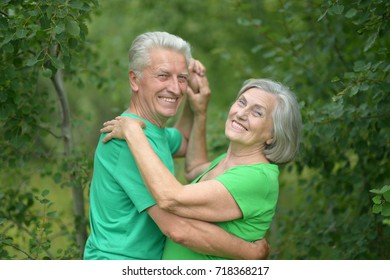 couple dancing   in the park