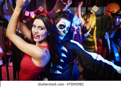 Couple dancing at the party