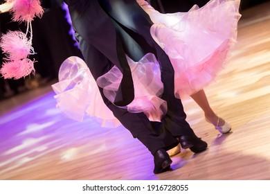 couple dancing standard dance on the dancefloor